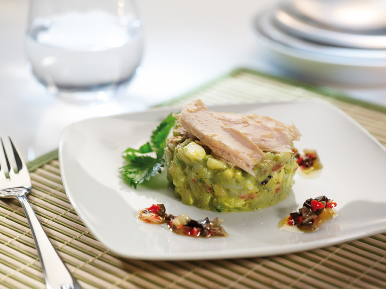 YELLOWFIN TUNA BELLY TIMBALE