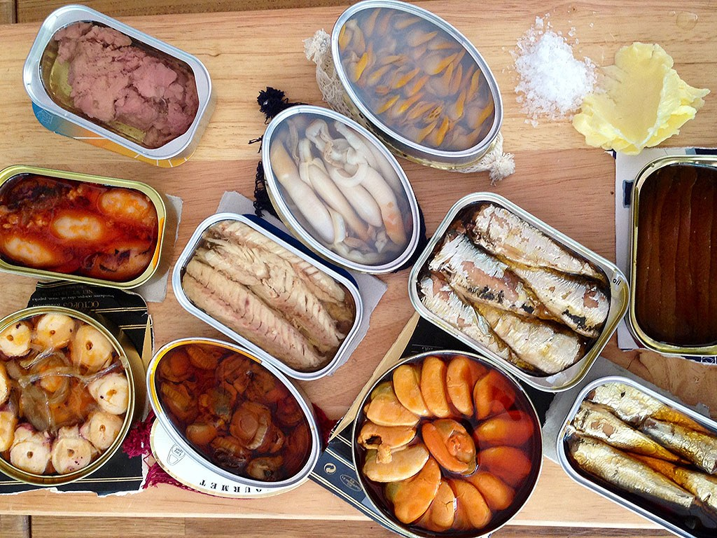 Canned fish for sportspersons